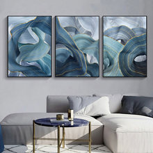 цены на Blue Art Poster Abstract Posters And Prints Wall Art Print Canvas Painting Modern Wall Pictures For Living Room Home Decoration  в интернет-магазинах