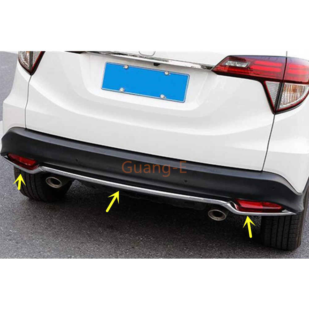 4pcs ABS Front/&rear Fog Light Lamp Cover Trim Decor For Honda HR-V Vezel 2014 2015 2016