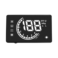 White Light H6 3.8 inch Hud Car Heads Up Display Led Windshield Projector Obd2 Scanner Speed Warning Fuel Consumption Data|Head-up Display|   -