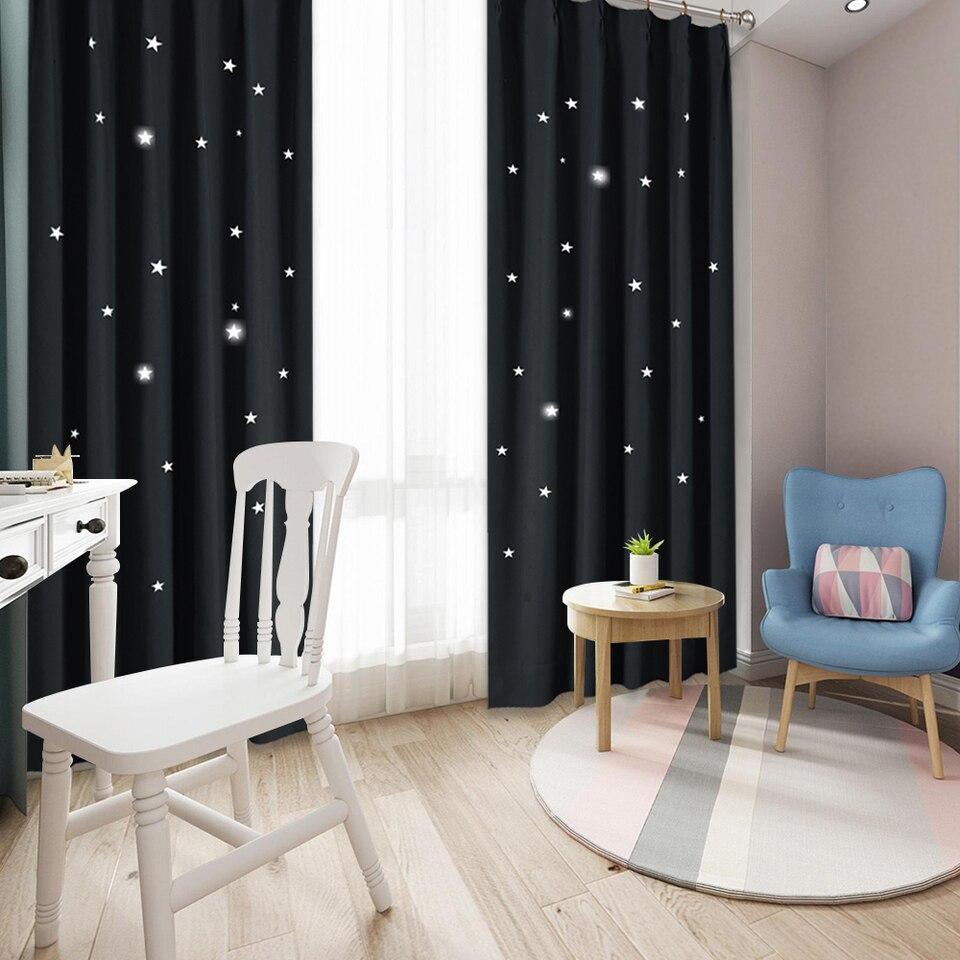 Nicetown Starry Night Sleep Enhancing Cosmic Twinkle Blind Nursery