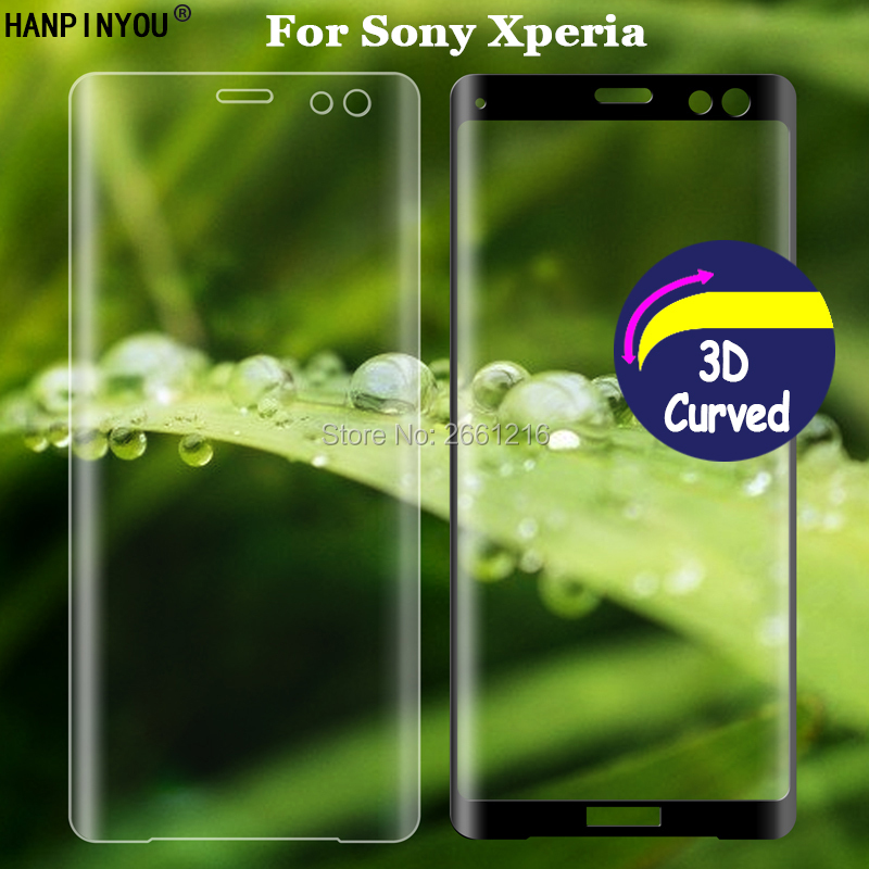 For Sony Xperia <font><b>1</b></font> <font><b>5</b></font> <font><b>10</b></font> L3 X XA XA1 XA2 Plus Ultra XZ XZ1 XZ2 XZ3 3D Full Coverage Curved Tempered Glass 9H Screen Protector Film image
