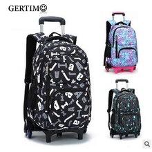 купить Kids Rolling School Bags Children Trolley Schoolbag with Wheels Primary Boys Travel Luggage Bags On Wheels;mochilas con rueda дешево