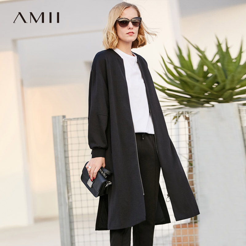 Amii Minimalism Fashion Long Coat Women Personality Loose Three-dimensional Design Coat 11887048