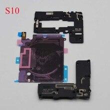 3 pièces/ensemble pour Samsung Galaxy S10 S10E S10 Plus G970 G973 G975 NFC charge sans fil + couvercle du panneau dantenne + haut parleur
