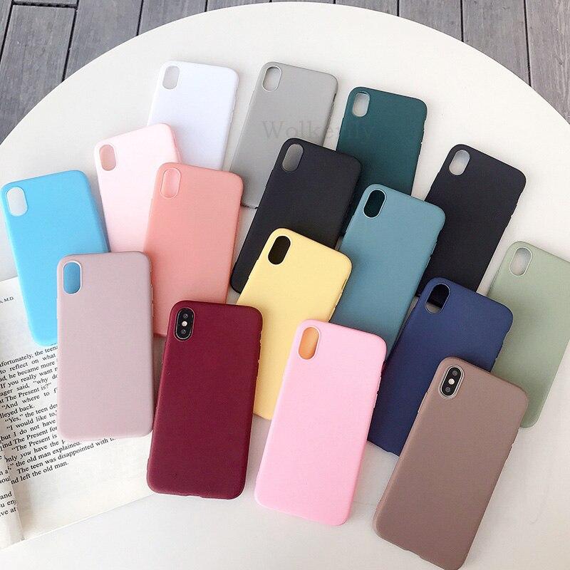 Ultra Thin Solid Color Case For Xiaomi Mi A3 8 Lite Redmi Note 7 5 6 Pro 7A 6A Silicone Cover For Xiaomi Mi 9 Se Cc9e 9t K20 Pro