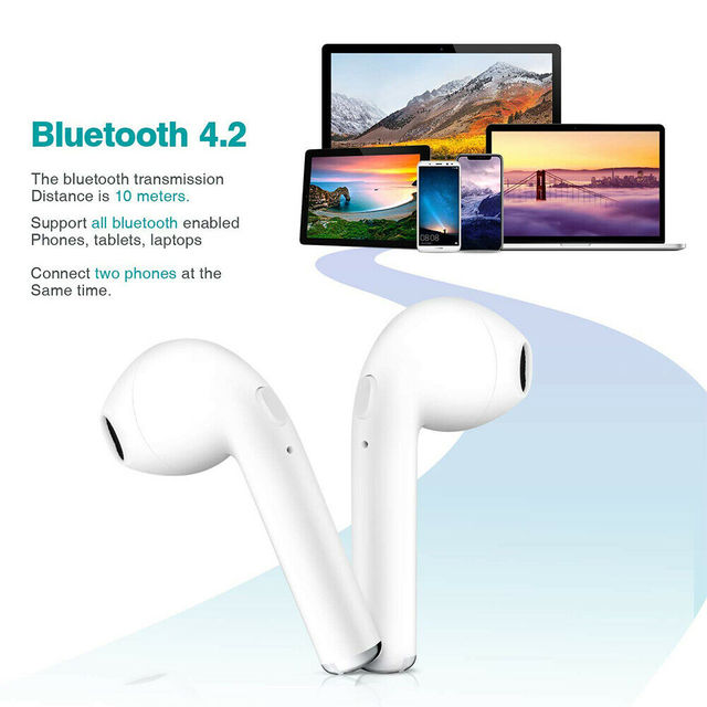 Bluetooth Earphones I7s TWS Sports Fitness Wireless Headsets Stereo Wireless Bluetooth Earphone With Charging Box for All Phone 2