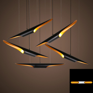 Image 1 - Replica delightfull coltrane loft moderno conduziu a lâmpada de suspensão luminária ouro preto asa alumínio tubo pendurado pingente lâmpada luz