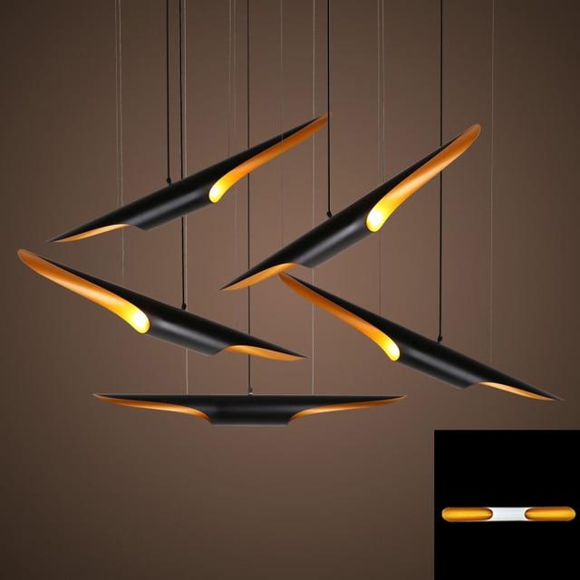 Replica delightfull coltrane loft moderno conduziu a lâmpada de suspensão luminária ouro preto asa alumínio tubo pendurado pingente lâmpada luz