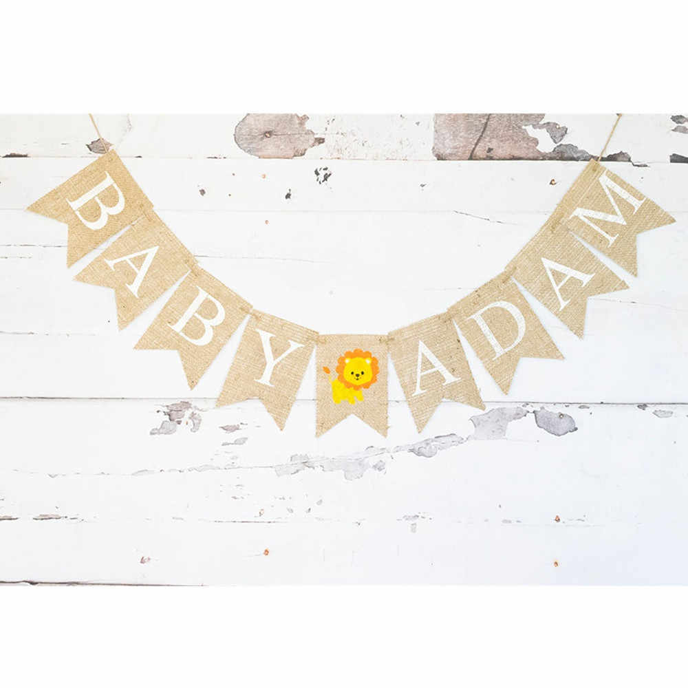 Cotton letters Decor nursary Home garland Personalized banner Personalized garland Personalized baby banner flags Rustic decor