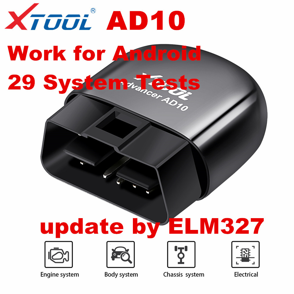 XTOOL AD10  OBD2 Code Scanner Diagnostic Scanner EOBD Bluetooth ELM327 Code Reader Work with Android Windows