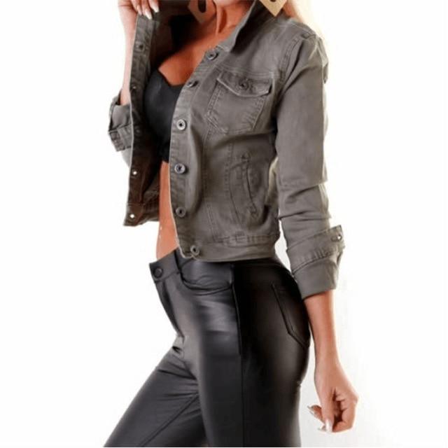 Винтажная женская джинсовая куртка в стиле Харадзюку Повседневная