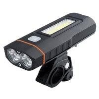 XML T6/U2 L2 Fiets Licht Koplamp USB Opladen Cob Hoogtepunt Werk Licht Mountainbike Power Torch Fietslicht    -