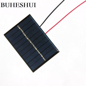 BUHESHUI  Polycrystallin 120MA 5V Solar Panele +Wire DIY Solar Battery  Charger For 3.6V Light Study 80*55MM 50pcs