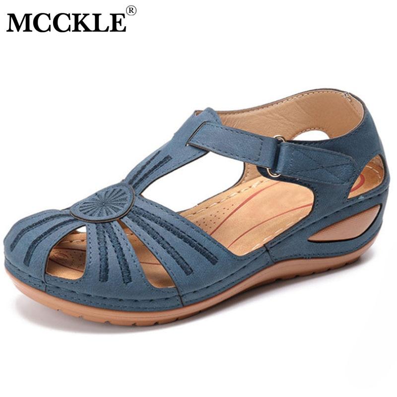 MCCKLE Women Sandals 2020 New Summer Shoes Woman Soft Bottom Wedges Shoes Women Platform Sandals Heels Gladiator Sandalias Mujer
