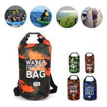 Swimming-Bag Rafting Dry-Bag River-Ocean-Backpack Outdoor Waterproof Beach Camo 5L 10L