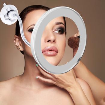 Lupa 10x lampa do kosmetyków makijaż lampa lustrzana 360 stopni LED Make Up Vanity lampa podwójna pianka bezpieczeństwo pakowanie zepsuty zwrot tanie i dobre opinie KINGSHAN Przełącznik KL-JQD Extra Double Foam Packing Led Makeup Mirror Light 3 x AAA Batteries (not include) 1 x Makeup Mirror Light
