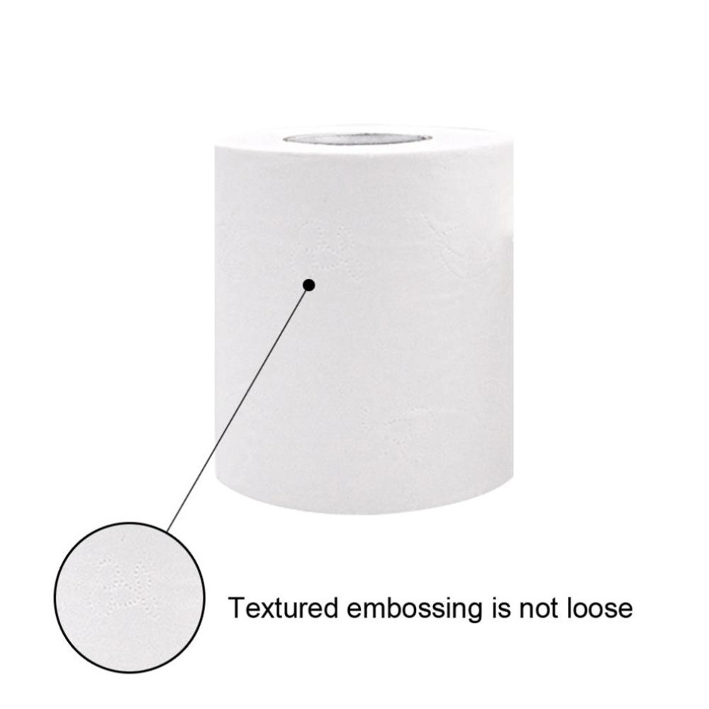 4-Layer Toilet Tissue  Paper Roll Bathroom Tissue Thicken Gentle Skin-Friendly Paper Towel 2 Rolls For Hotel Salon Or For Family