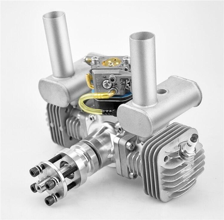 RCGF 50cc double cylindre essence/essence moteur double cylindre avec silencieux/Igniton/bougie d'allumage pour avion modèle RC
