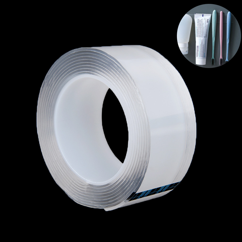1/2/3meter Strong Acrylic Tape Nano Magic Super Fix Transparent Reusable Waterproof Double Sided Adhesive Tapes 2mm Thick