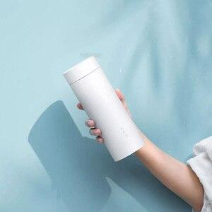 Image 3 - Youpin Viomi elektrikli su bardağı 400ml taşınabilir termos güveç fincan dokunmatik kontrol yalıtım Pot sıcak tutmak şişe seyahat için açık