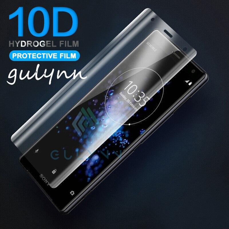 New 10D Soft TPU Hydrogel Film For Sony Xperia 1 10 10Plus XA2 XA1 XZ1 Ultra HD Screen Protector Full Cover (Not Tempered Glass)