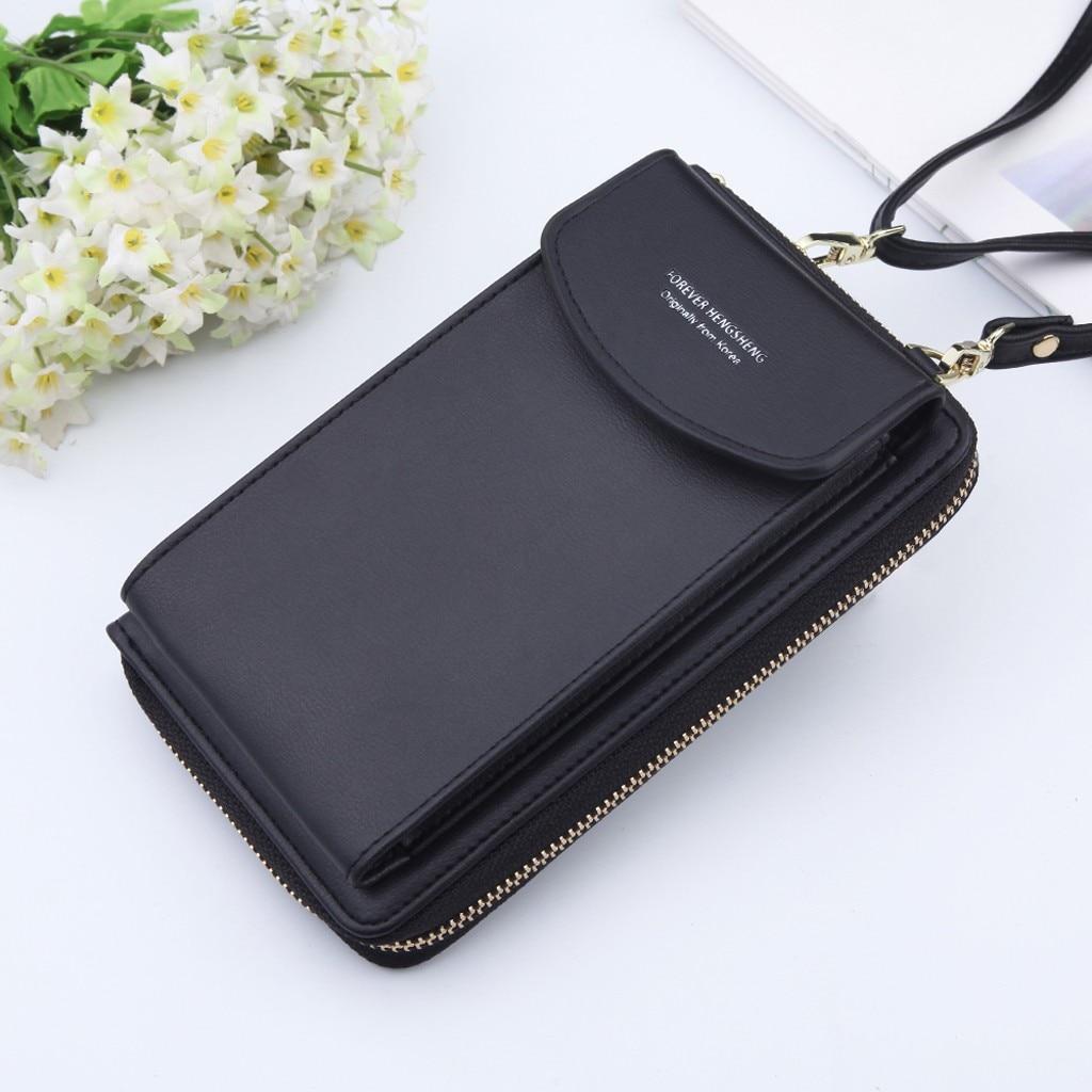 Drop Shipping Women Wallet Brand Cell Phone Wallet Big Card Holders Wallet Handbag Purse Summer Messenger Shoulder Bag Carteira