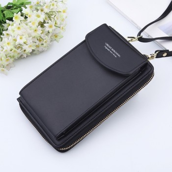 Drop Shipping Women Wallet Brand Cell Phone Wallet Big Card Holders Wallet Handbag Purse Summer Messenger Shoulder Bag Carteira women cell phone bag shoulder transparent bag card holders girl handbag ladies pu leather clutch phone wallets purse 2020