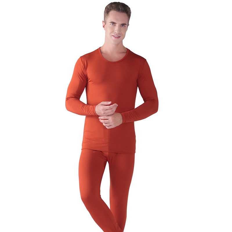 Set di Biancheria Intima termica Per Gli Uomini di Inverno Termico Biancheria Intima lunga johns Vestiti di Inverno Degli Uomini di Spessore Abbigliamento Termico Solid tenere in caldo - 3