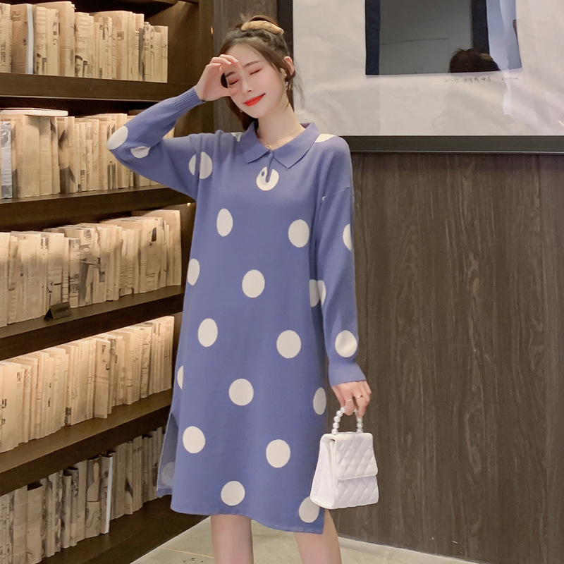 Pregnant Women Fall And Winter Clothes Dress 2019 New Style Fashion Pregnancy Fashion Mom Sweater Jersey Dress Large Size Dress Buy At The Price Of 22 31 In Aliexpress Com Imall Com