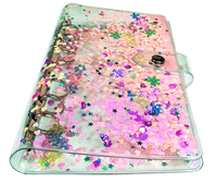 A5 A6 Cute Loose Leaf Notebook Cover sequin laser Transparent Binder Planner Diary bullet journal Office Stationery Supplies