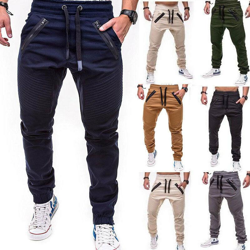 2019 Brand New Fashion Men's Slim Fit Urban Straight Leg Trousers Casual Pencil Jogger Cargo Hot Sale  Pants