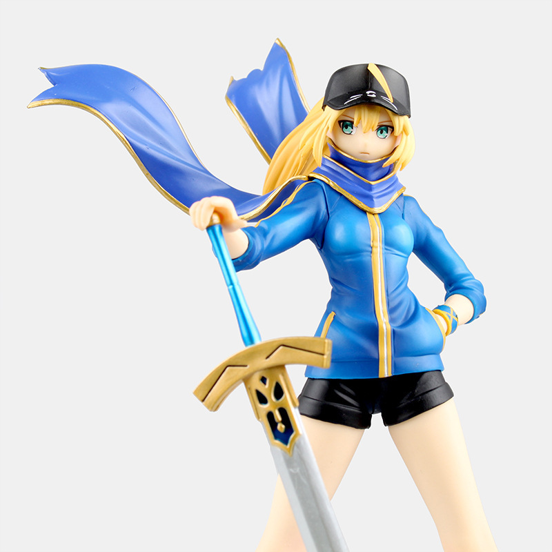 Anime Fate Zero Figure 23CM Fate Stay Night Saber Baseball jackets Action Figure Sexy Girl Lily Figure Toy B19