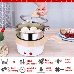 Cooker Food-Container-Tool Multifunctional Mini Pan Stew Fry Electric-Pot Stainless-Steel