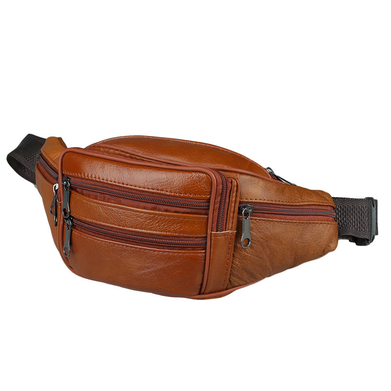 Hot Selling Mens Bag Leather Handbag Men's Classic Bag Men's Running Bag Small Business Purse Cowhide Sports Bag Cross-body Bag