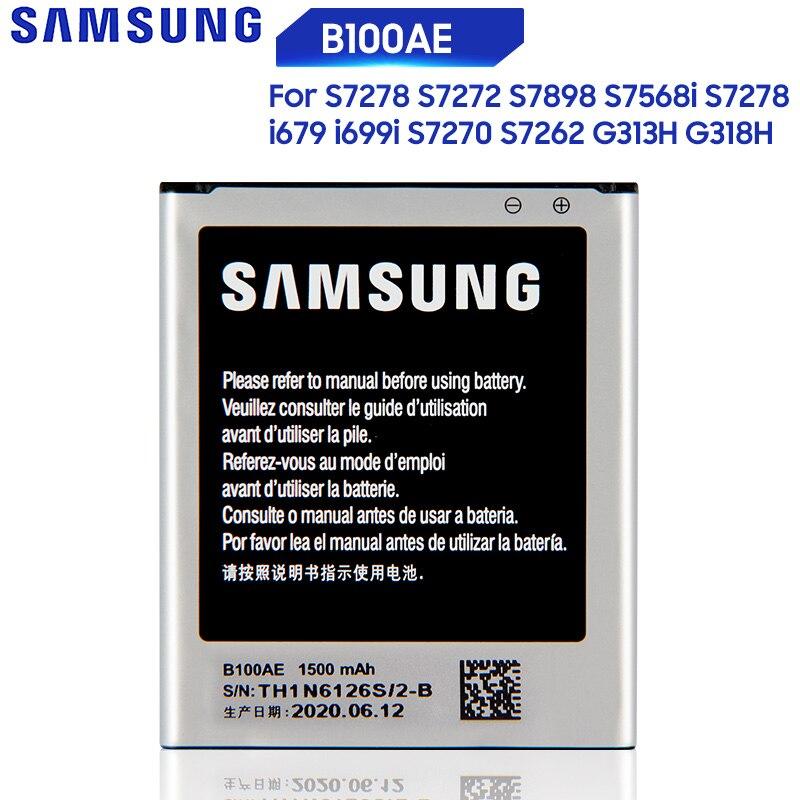 Bateria Original Para Samsung Galaxy Ace Ace 3 4 S7568i S7278 i679 S7270 S7262 i699i S7898 S7272 G313H G318h B100AE B100AC
