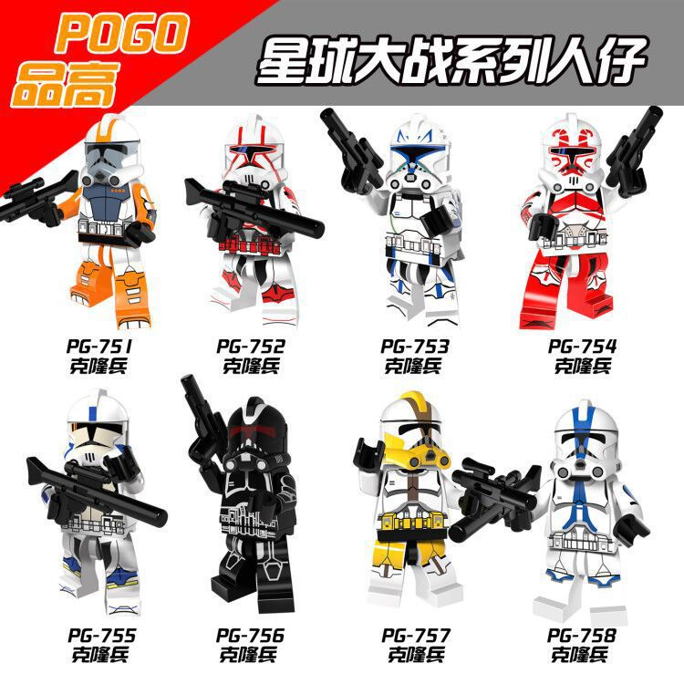 Single Star Wars Figures Snowtroopers Deathtroopers Commander Rex Storm Soldier Clone Trooper Building Blocks Toys For Children
