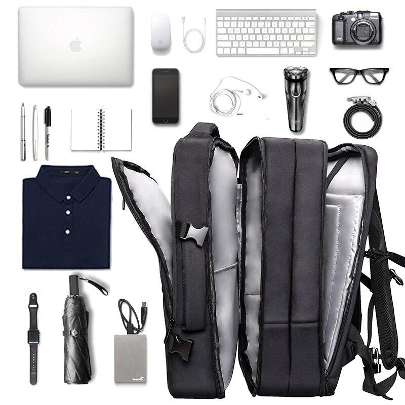 Mochila Retro de cuero genuino para hombre, mochila para ordenador portátil de gran capacidad, mochila escolar, bolsos de hombro para hombre, mochilas de viaje de cuero marrón - 4
