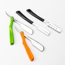 Pro folding Manual Shaver Straight Edge Stainless Steel Sharp Barber Razor Shaving Beard Cutter With 10pcs Blade G0325