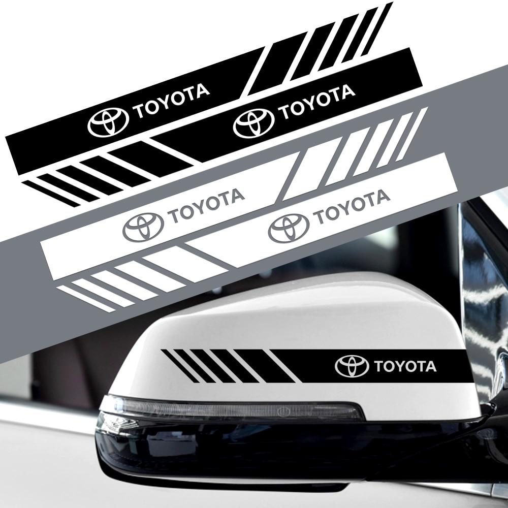 2 шт. Автомобильная наклейка на зеркало заднего вида Декоративные наклейки для TOYOTA C-HR RAV4 Yaris Camry Avalon Avensis Prado Prius TRD аксессуары