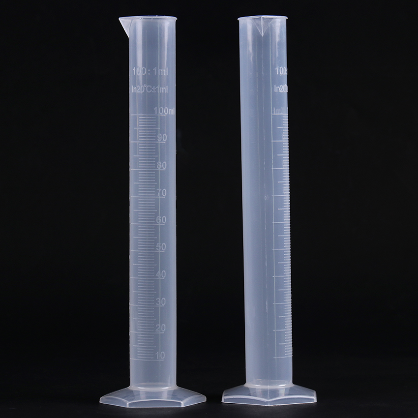 100ml Transparent Plastic Graduated Tube Liquid Measurement Graduated Cylinder Laboratory-Specific Laboratory Supplies