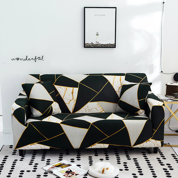 Sofa Covers for Living Room Modern Floral Printed Stretch Sectional Slipcover Polyester L Shape Armchair Couch Case 1/2/3/4 Seat 1