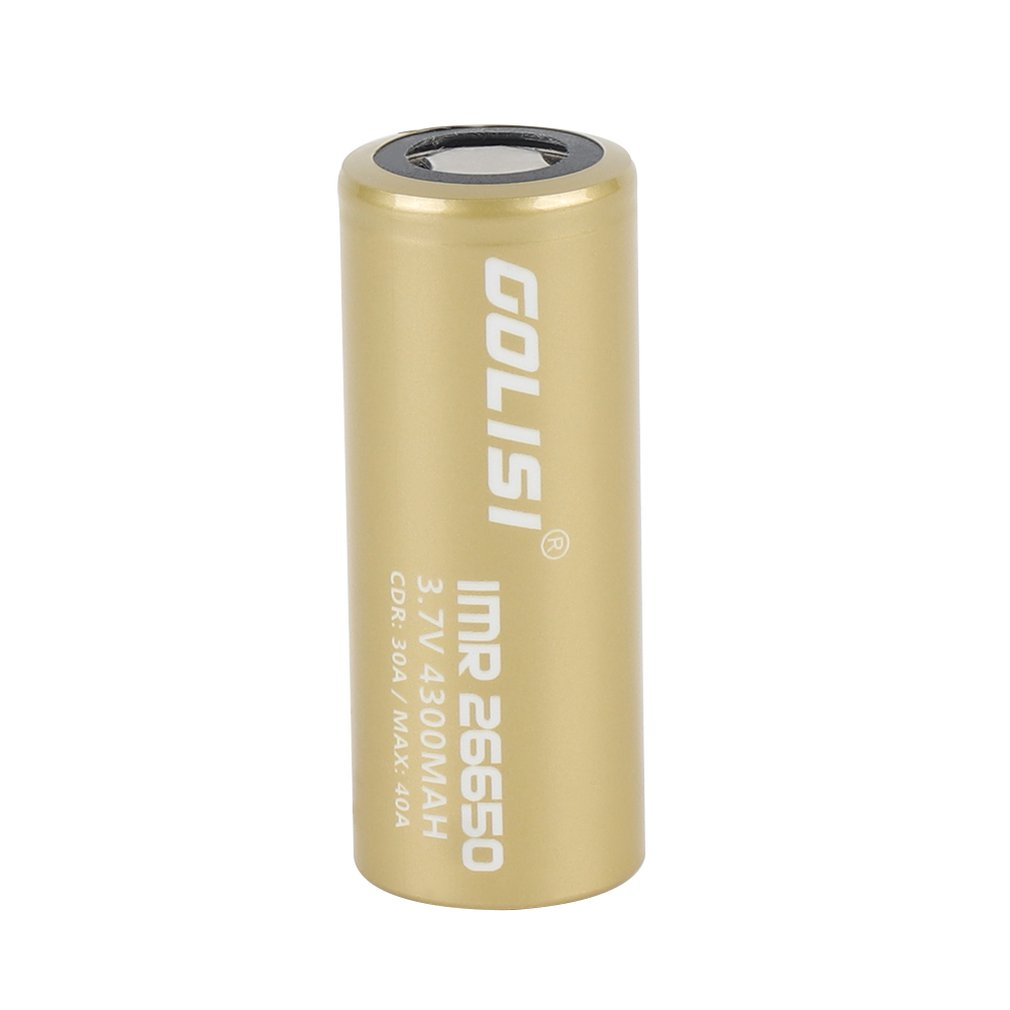 GOLISI S43 26650 Rechargeable Battery Li-ion 4300mAh 3.7V 35A High Drain Low Internal Resistance for LED Flashlights Headlamps image