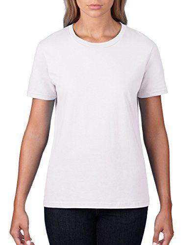 Anvil 880 Da Donna A Maniche Corte Da Donna Fashion-Maglietta, Colore: Bianco-L