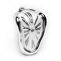 Lustige Surrealismus Kunst Geschenk Salvador Dali Zeit Warp Schmelzen Uhr Silber Zeit