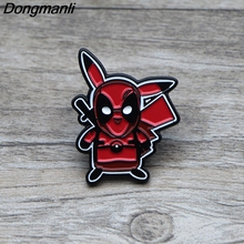 L1374 Deadpool Pikachu Metal Brooches and Pins Enamel Pin for Backpack/Bag Badge Brooch T-shirt Collar Jewelry 1pcs