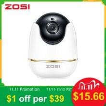 ZOSI 1080P HD Wifi kablosuz ev güvenlik IP kamera 2.0MP IR ağ CCTV gözetleme kamera ile iki yönlü ses bebek izleme monitörü