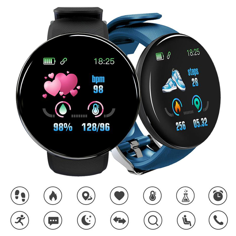 Smart <font><b>watch</b></font> man d18 heart rate monitor <font><b>blood</b></font> <font><b>pressure</b></font> smartwatch female dpk water sport fitness tracker <font><b>watch</b></font> pk d13 dropshiping image