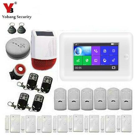 Wireless WIFI GSM Home RFID Burglar Security Full Touch Screen Burglar Alarm System Sensor Kit French,Russian,Spanish Voice