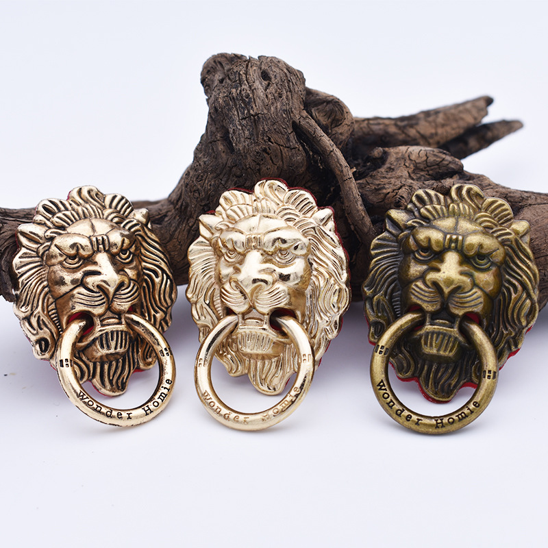 Lion Mobile Phone Ring Bracket Full Metal Plating Retro Wind 360 Degree Rotating Mobile Phone Shell Universal Ring Phone Holders