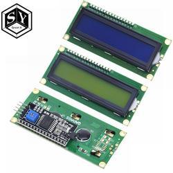 Это здорово ЖК-дисплей 1602 + I2C ЖК-дисплей 1602 Модуль синий/зеленый экран PCF8574 IIC/I2C ЖК-дисплей 1602 адаптер пластины